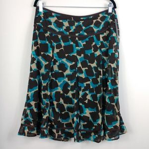 Ingredients A-Line Layered Ruffle Skirt NWT